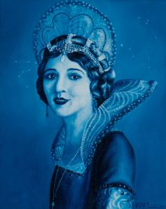 Painting of fairy godmother by Eliza Furmansky