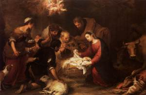 """Adoration of the Shepherds"" - painting by Bartolome Murillo"