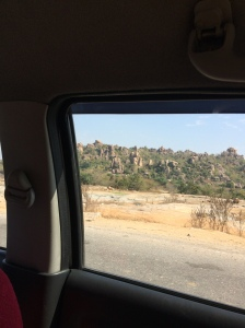 "There are interesting mountainous areas around Hyderabad, where the ""mountains"" are giant piles of rocks naturally stacked atop one another."