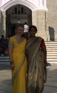 Happy in my saree -- a secret wish I never thought to experience!